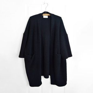 Oak + Fort Cocoon Coat Women Black OS Wool